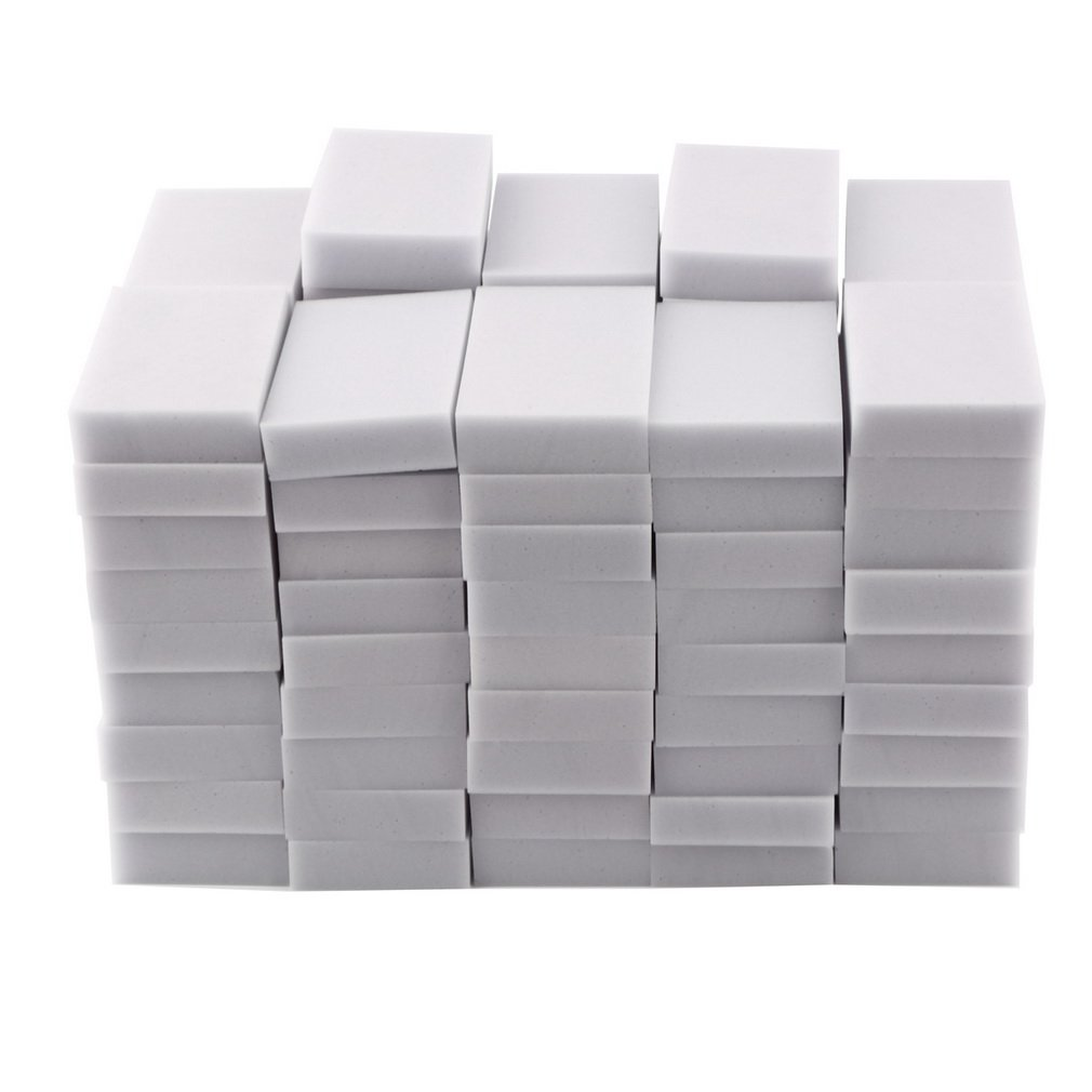 100pcs/lot 100 x 60 x 20mm Magic Sponge Cleaner Super Decontamination Eraser Melamine Kitchen Office Bathroom Cleaning Tool