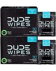Dude Wipes, Flushable Single Moist Wipes