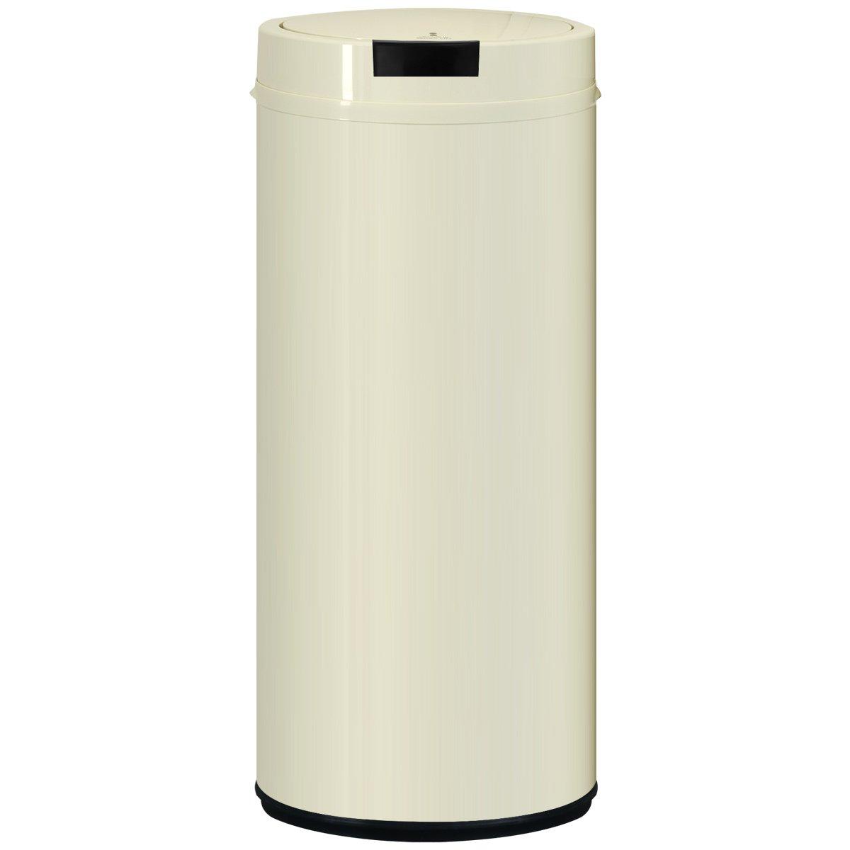 ottostyle.jp センサー付 全自動 スチールごみ箱/ゴミ箱 【容量42L】ラウンドタイプ オフホワイト 手をかざして自動開閉 近づくだけで自動で開く キッチン リビング ペット 感知センサー ダストボックス 45リットルゴミ袋対応 B01GCCKFEA オフホワイト オフホワイト