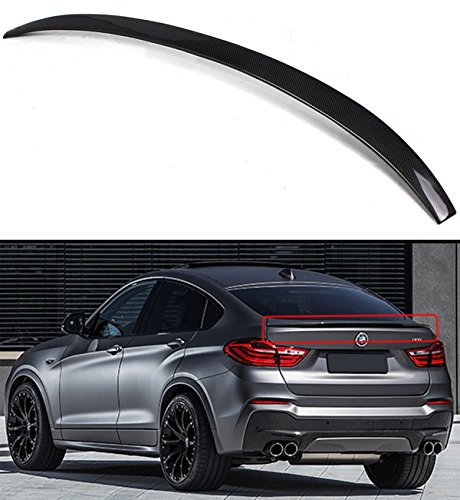 Cuztom Tuning Fits for 2015-2017 BMW X4 F26 SUV Performance Style Carbon Fiber Trunk Spoiler Wing Lid