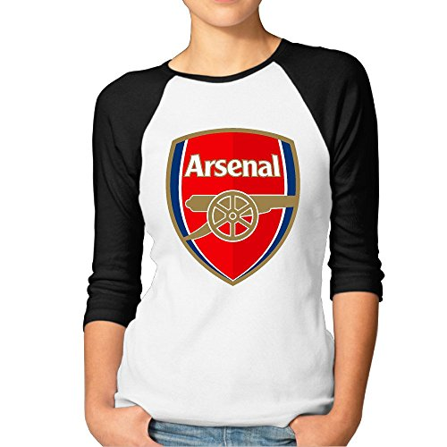 Arsenal F.C. Logo Football Club Women's 3/4 Sleeve (3 Logo Balls)