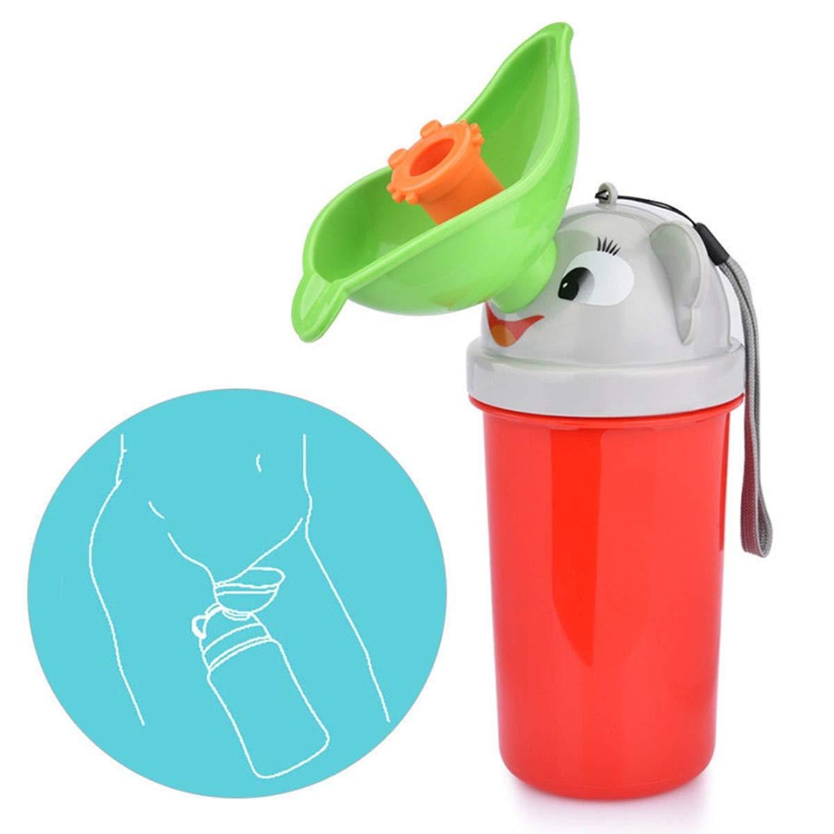 Portable R/éutilisable B/éb/é Enfant Potty Urinoir Urgence De Toilette Formation Pee pour Camping Car Voyage Pour Gar/çons et Filles Color : Red