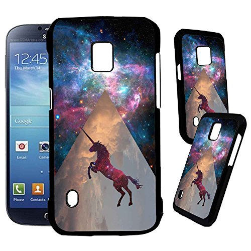Samsung Galaxy S5 Active Designer Plastic Case - Unicorn Galaxy Space - Ultra Durable Slim & HARD PLASTIC Highly Protective Vibrant Snap On Designer Back Case / Cover [TeleSkins]