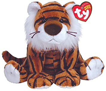 7a32a4ac070 Stripey - The Tiger - TY Beanies Original  Amazon.co.uk  Toys   Games