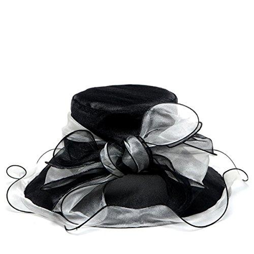 F&N STORY Two-Tone Tea Party KT Derby Church Hat Wedding Dress Hat Bridal Shower 037db