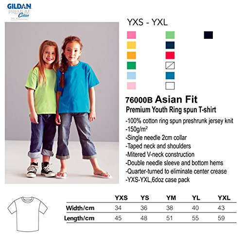 Shirt 76000B Gildan T Taped Jersey Blue Children's Heavy Light Comfort Neck Ux0HPw6q