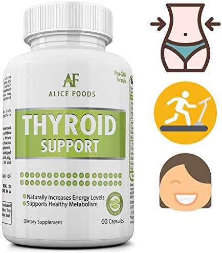 Improve Energy Levels and Metabolism with Thyroid Support Supplement with Iodine +Thyroid Disorders Guide Ebook - Premium Natural Ingredients - For Men and Women