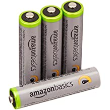 AmazonBasics AAA High-Capacity Rechargeable Batteries (4-Pack) Pre-charged - Packaging May Vary