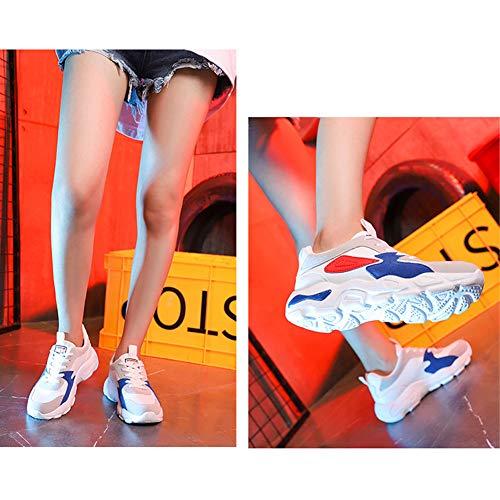 Jogging Scarpe Moda Chunky Piedi Traspirante Blu Sport Top Sneakers Retro Casuale Piattaforma Donna Low Leggero A Trainers Yudesun fXIHHq