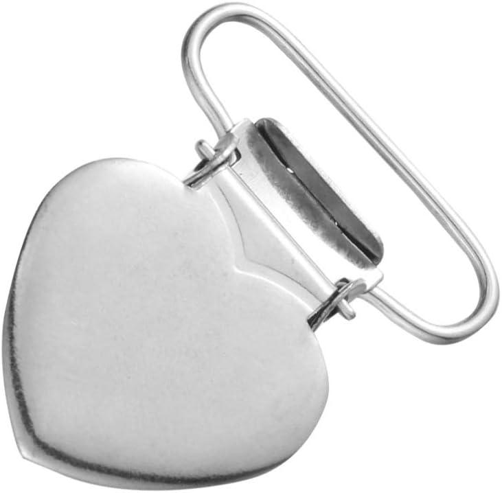 Silber Healifty 20 St/ücke Hosentr/äger Clips Herzform f/ür Die Herstellung von Schnuller Halter Bettlaken Befestigungen L/ätzchen Clips Spielzeug Halter