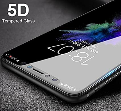 free shipping f9078 c9ecd ELICA - Samsung Galaxy A6 Plus (2018) - 5D Tempered Glass | Full Front Body  Cover | Edge to Edge Screen Guard Protector - Black
