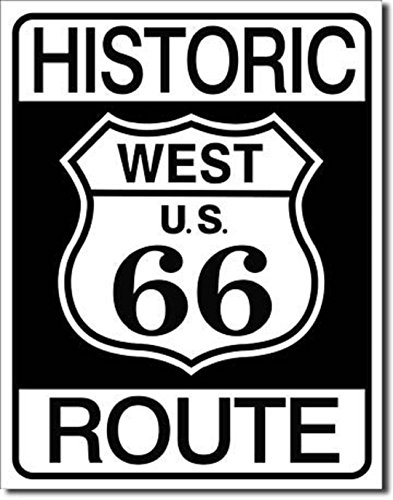HISTORIC WEST US ROUTE 66 BEACH METAL 12.5