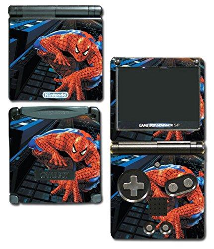 Amazing Spider-Man Spiderman 1 2 3 Cartoon Movie Video Game Vinyl Decal Skin Sticker Cover for Nintendo GBA SP Gameboy Advance System