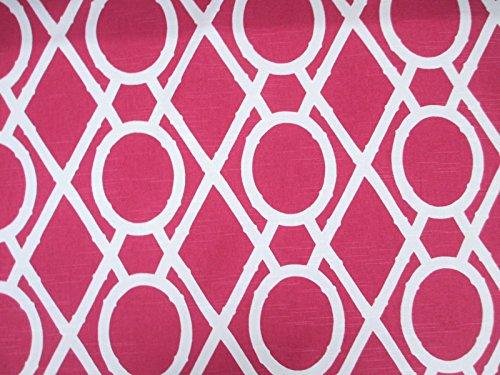 Robert Allen Fabric Upholstery Drapery Lattice Bamboo Raspberry EE22