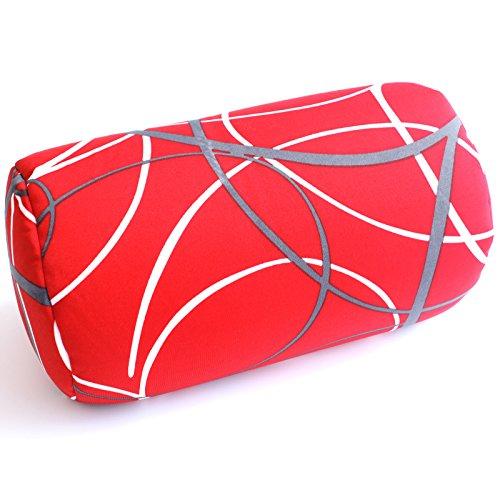 Bookishbunny Home Office Chair Car Seat Cushion Micro Bead Roll Pillow 7