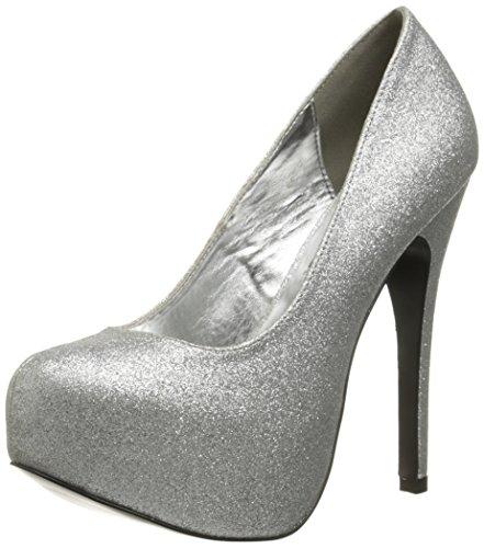 Alto Poliuretano Kissable Silver Tacco Femminile Glitter Pompa wgXxqx0d1