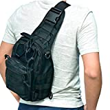 Liibot 600D Wear-resistant Oxford Casual Daypacks Sling Bag for Sports Camping ( Black )