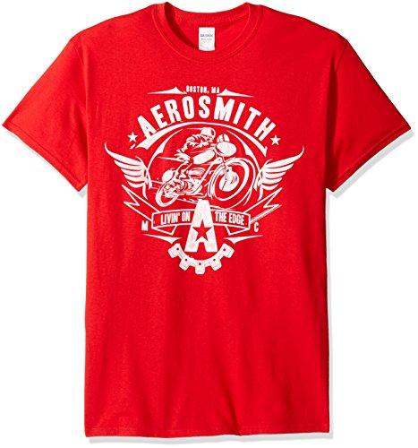 FEA Men's Aerosmith Adult Short Sleeve T-Shirt, Livin' Red, 2XL ()