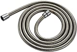 """xlshower XLSSH8FT Extra Long (8 ft) (96"""") Stainless Steel Handheld Shower Hose, Between Mirror and Brushed finish"""