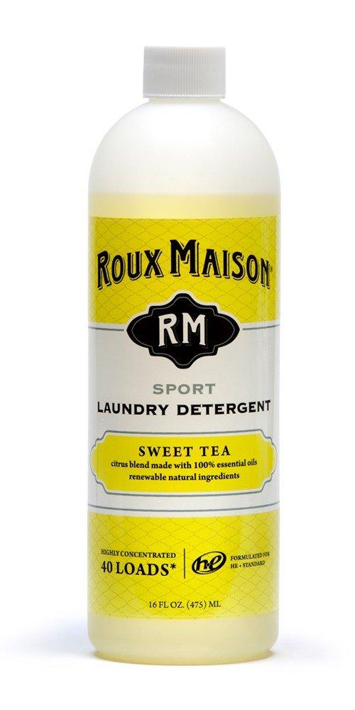 Roux Maison Sport Laundry Detergent - Odor Eliminator HE Detergent, All Natural Laundry Detergent, Up to 40 Machine Wash Loads - Sweet Tea 16oz.