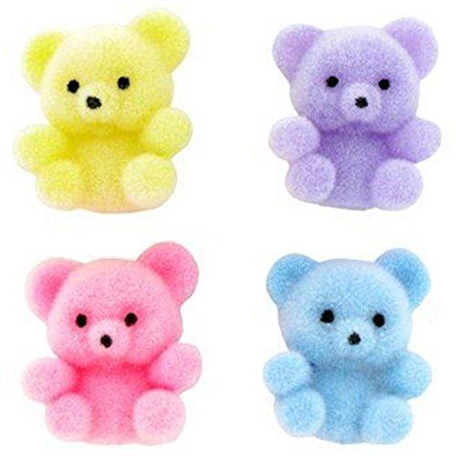 Miniature Assorted Pastel Flocked Teddy Bears