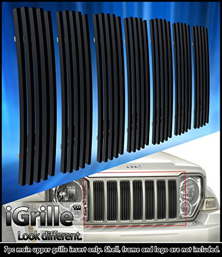 Matte Black Stainless Steel eGrille Billet Grille Grill For 08-12 Jeep Liberty Jeep Billet Grill