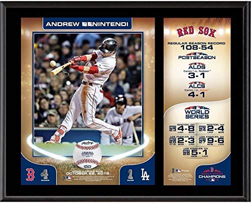 Sports Memorabilia Andrew Benintendi Boston Red Sox 2018 MLB World Series Champions 12
