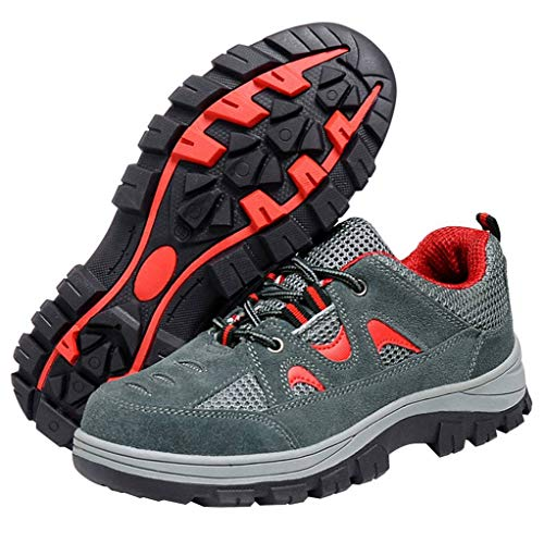 Gray Comp Safety Work Shoes Toe Shoes Shoes Steel Men's Red Optimal qCx4fB