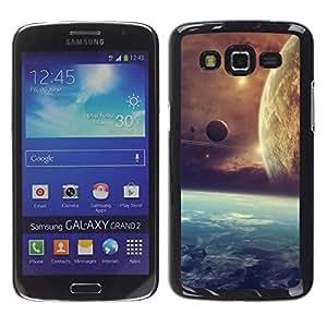 LECELL -- Funda protectora / Cubierta / Piel For Samsung Galaxy Grand 2 SM-G7102 SM-G7105 -- Space Planet Galaxy Stars 21 --