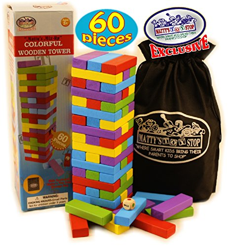 Mattys-Mix-Up-60pc-Large-Colorful-Wooden-Tumbling-Tower-Deluxe-Stacking-Game-with-Storage-Bag