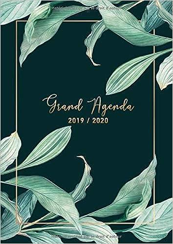 Grand Agenda 2019-2020: A4 Planificateur Juillet 2019 ...