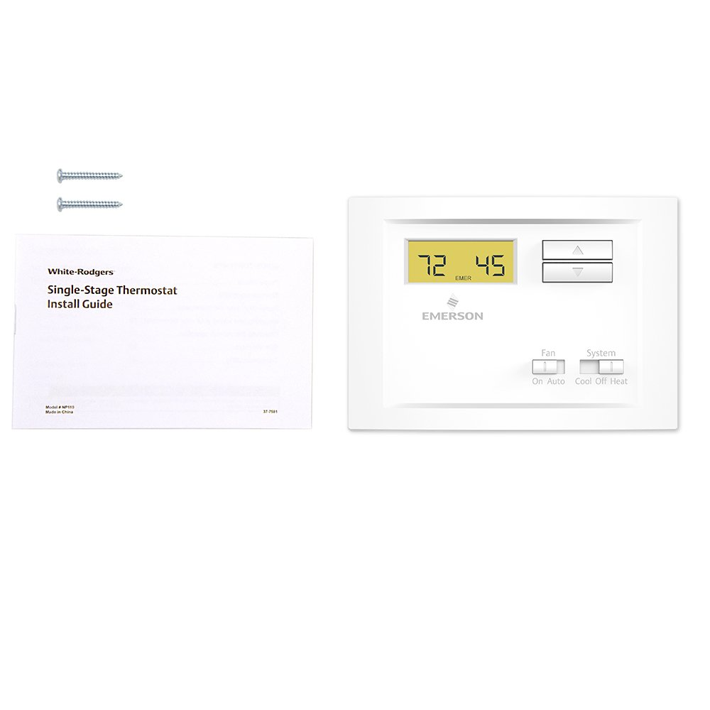 51VZWhWhL%2BL._SL1000_ amazon com emerson np110 non programmable single stage thermostat white rodgers np100 thermostat wiring diagram at creativeand.co