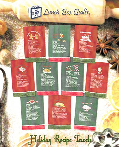 Brewer 4336993327 Holiday Recipe Towels Pattern