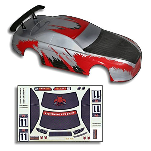 Redcat Racing Road Body (1/10 Scale), Red/Carbon - Fibre Carbon Red