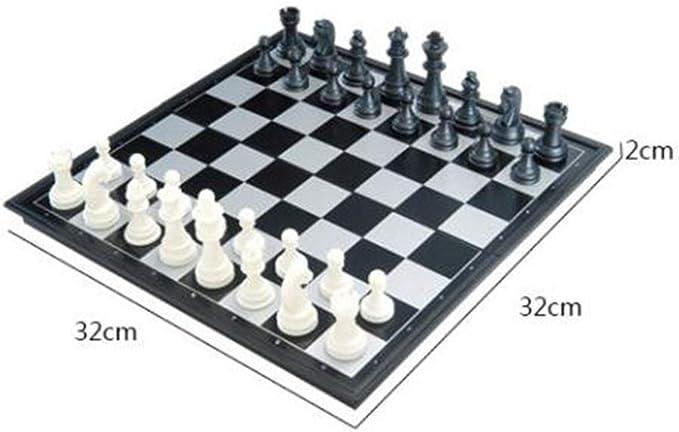 FairOnly - Juego de Mesa de ajedrez magnético portátil, Schach, Medium: Amazon.es: Hogar