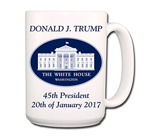 Wag Whimsy Donald Trump Inauguration Day 2017 Coffee Mug Cup, 15 oz