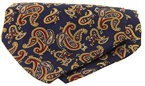 Soprano Paisley Silk tie Large Self Navy Cravat 0pwSqp4Ox