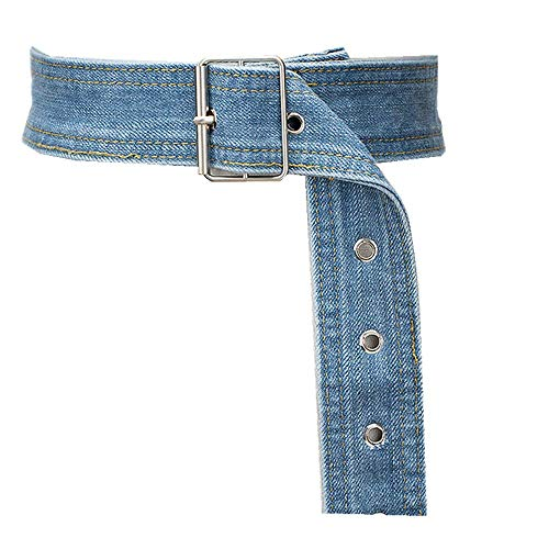 Fashion Vintage Ladies Belted Long Sweater Dress Shirt Belt, Blue/B, 63-91cm ()