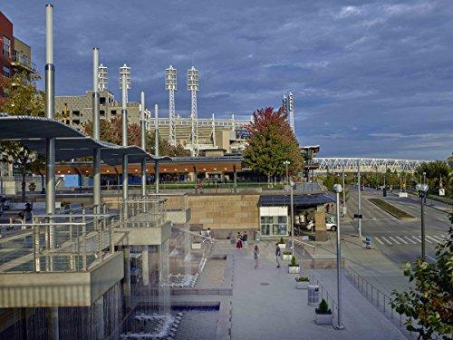 Photograph   Riverfront Park, near the Great American Ballpark, home of major-league baseball's Cincinnati Reds, in Cincinnati, Ohio  Fine Art Photo Reporduction 60in x 44in