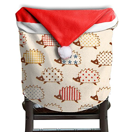Hedgehog Animals Christmas Chair Covers Modern Design Strong Hang Around Chair For Boyfriends Chair Back Covers Holiday Festive by ChengGo