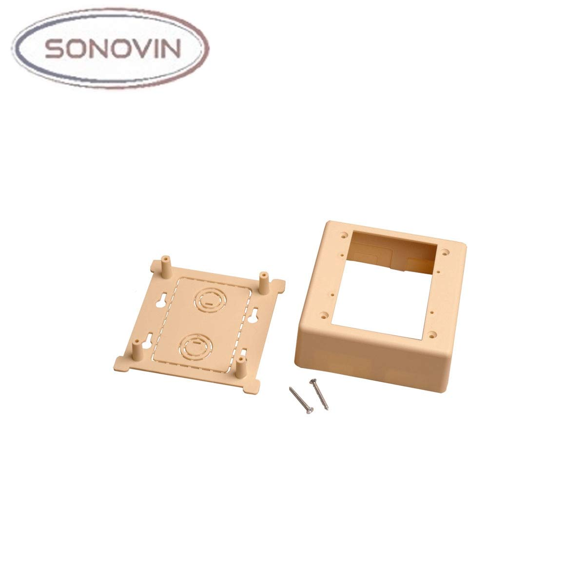 Ivory Color:Ivory Low Voltage Sonovin Dual Gang Surface Mount Box for Raceways