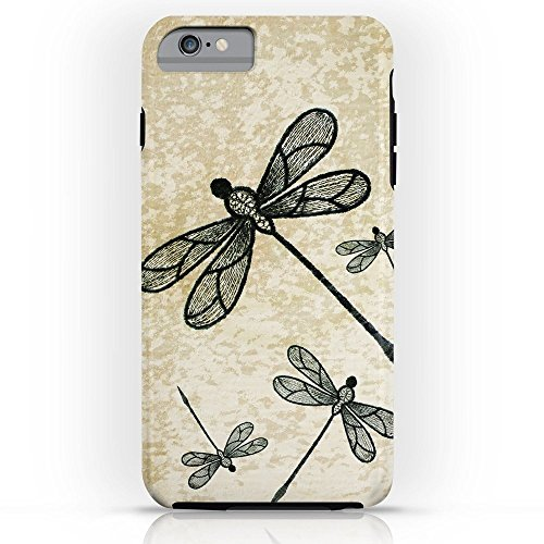 Phone Case Protectivedesign Cell Case Dragonflies On Tan Texture Compatible Slim Case for iPhone 6s - Tan Fly
