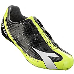 Diadora Vortex Pro Shoes Black/Yellow Fluo/White, 40.0 - Men's