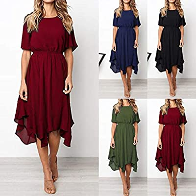 Dresses for Womens,DaySeventh Women Casual Short Sleeve O Neck Knee Length Dress Evening Party Dress