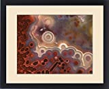 Framed Print of USA, Oregon, Close-up of cross section pattern in Mexican crazy lace agate