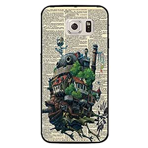 Samsung Galaxy S7 Case Retro Style Howl'S Moving Castle Phone Case Back Protective Shell Cover for Samsung Galaxy S7 Modern Design Miyazaki Case