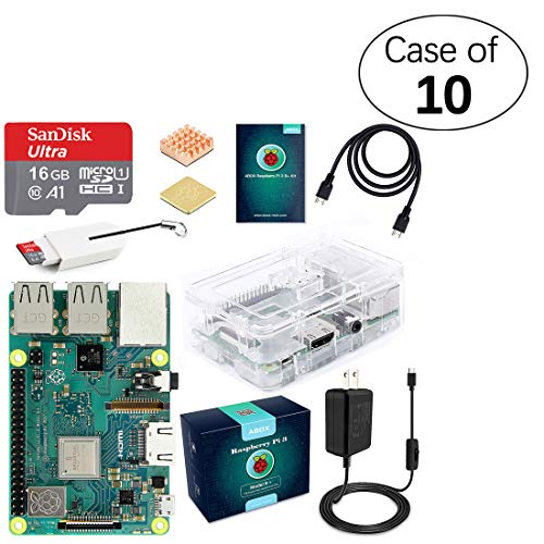 Case of 10, ABOX Raspberry Pi 3 B+ Complete Starter Kit
