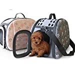 Corner Biz Pet Portable Small Pet Dog Cat Sided Carrier Travel Tote Shoulder Bag Cage House Color Grey