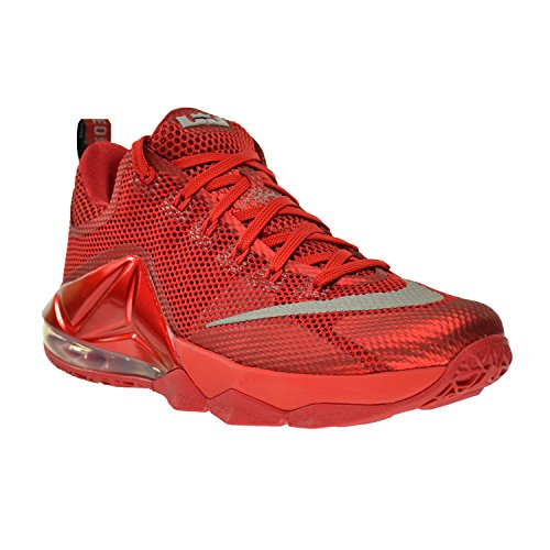 Nike Herren Lebron XII Low Basketball Schuh University Red / Reflect Silver-Fitnessstudio Rot-Schwarz