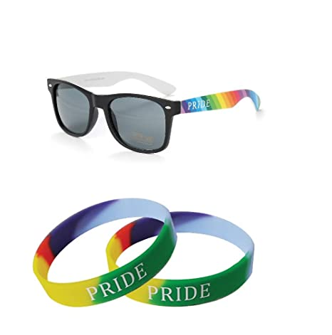 Orgullo Gay Duo Gafas de sol y 2 x pulseras (WSPSG3): Amazon ...